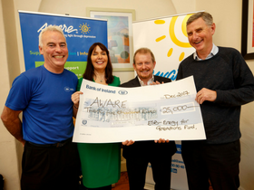 ESB marks 90 years with staff challenge: €25,000 donated to Aware