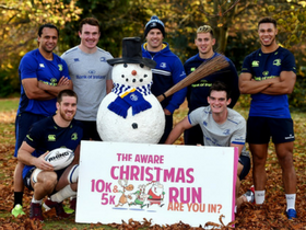 Leinster Rugby Launches 11th annual Aware Christmas Run
