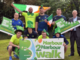 Leinster Rugby launches 12th annual Aware Harbour2Harbour Walk