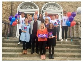 Cadbury Ireland paid a surprise visit to Aware