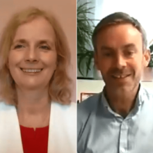 Stillshot of Claire and Keith during Coping with Depression Webinar
